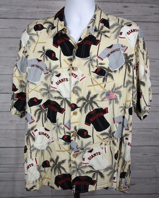 15a5275d San Francisco Giants Reyn Spooner Short Sleeve Hawaiian Aloha Shirt Large  #sfgiants #ReynSpooner #Hawaiian