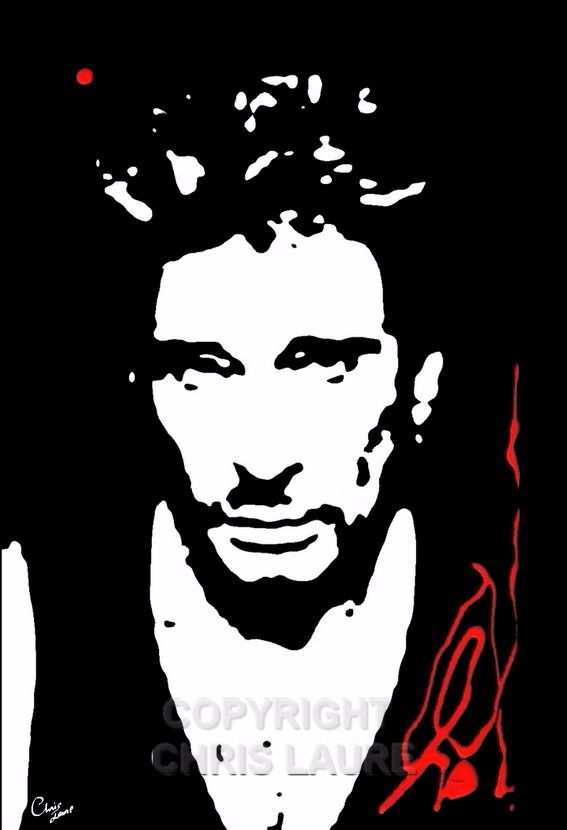 Portrait de Johnny Hallyday - 49,00 € #onselz