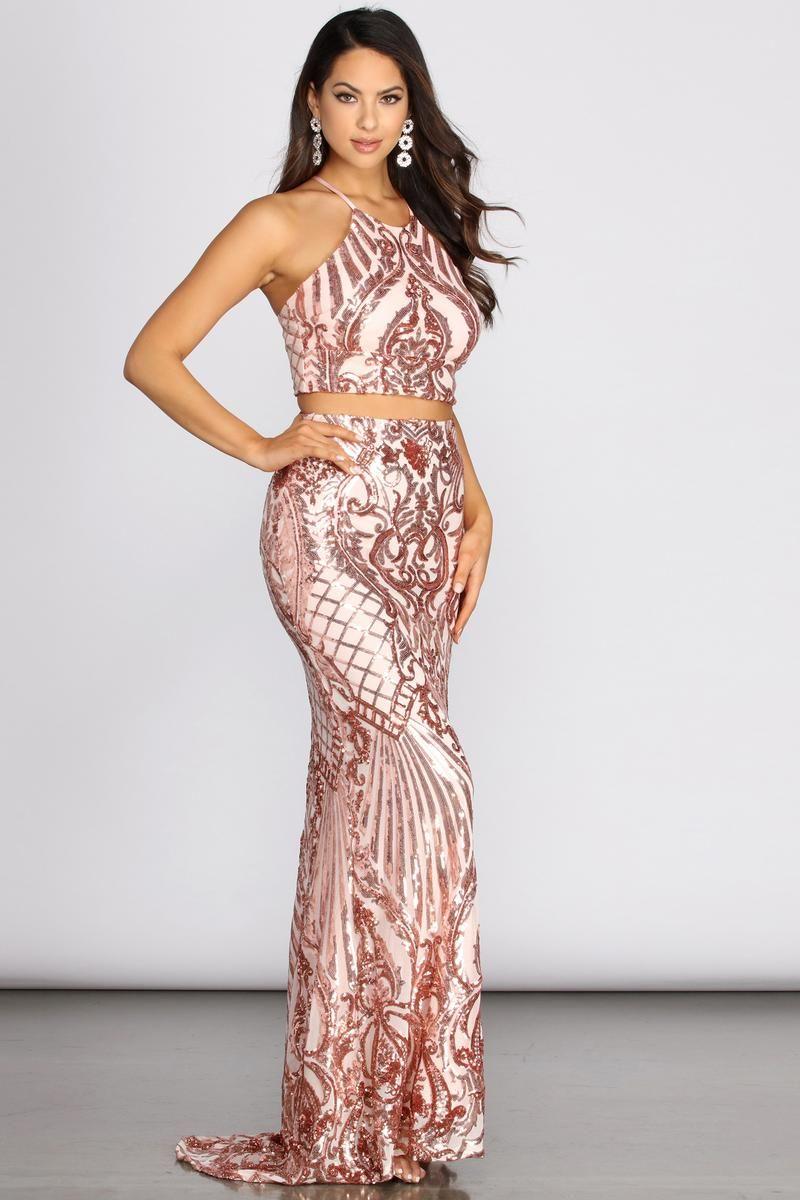 Alissa Formal Two Piece Sequin Dress In 2020 Women Dresses Classy Dresses Sequin Dress [ 1200 x 800 Pixel ]