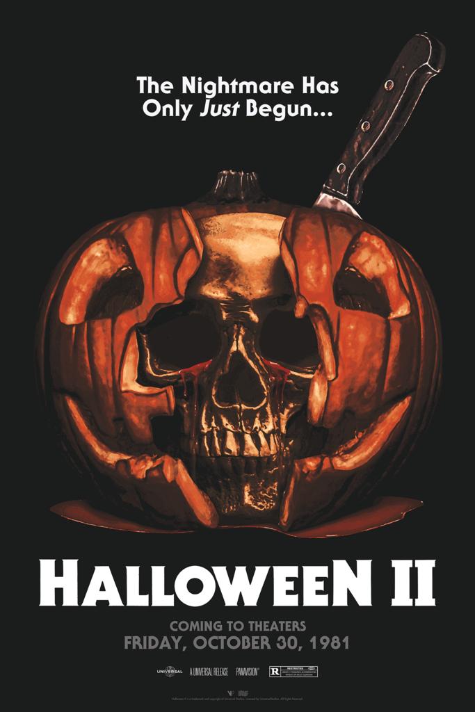 Halloween 2 1981 600 X 800 By March Schoenbach Halloween Ii Horror Movie Posters Michael Myers Halloween