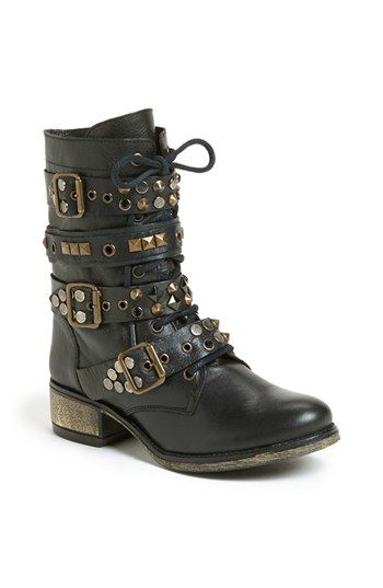 Steve Madden 'Lilianne' Boot available at #Nordstrom- black studded combat  boots