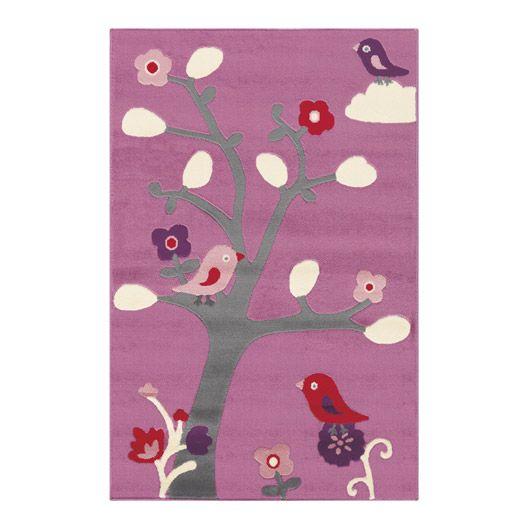 Tapis enfant velours oiseaux, multicolore, 150x100 cm Leroy ...