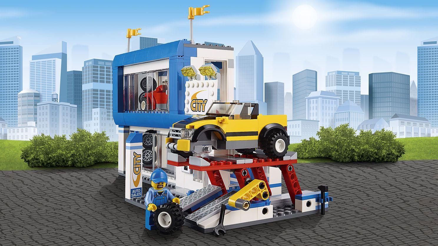 Lego City Garage : Lego city town garage and workshop city square lego