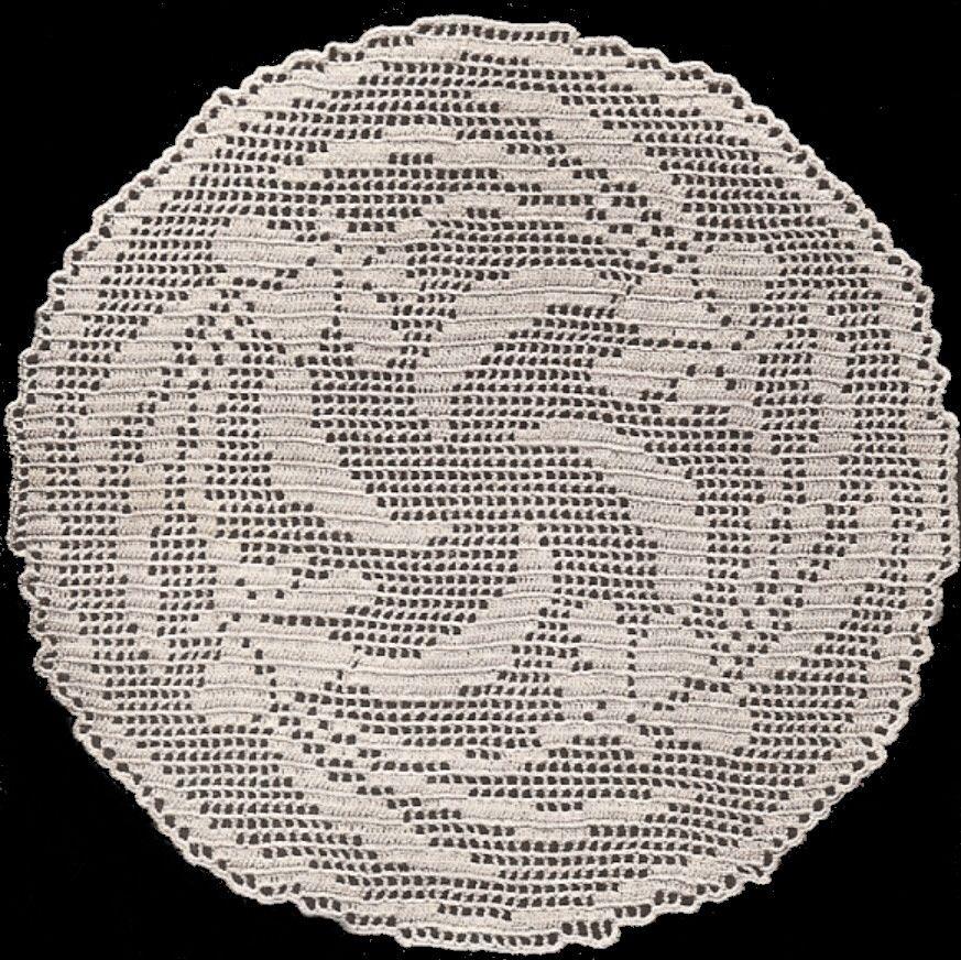 Round Filet Crocheted Doily Centerpiece Pattern Crochet