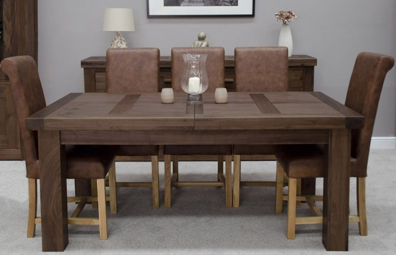 Homestyle Walnut Large Extending Dining Table 12 Seater Wood
