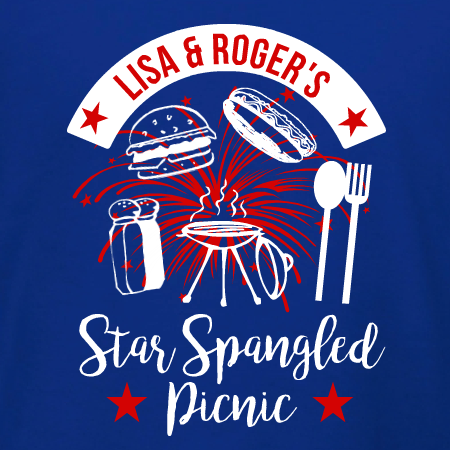 Star Spangled Picnic T Shirt Template For 4th Of July Party