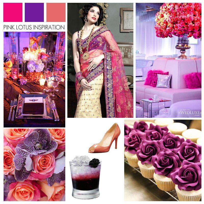 Color Board Pink Purple And Coral Purple Coral Wedding Coral