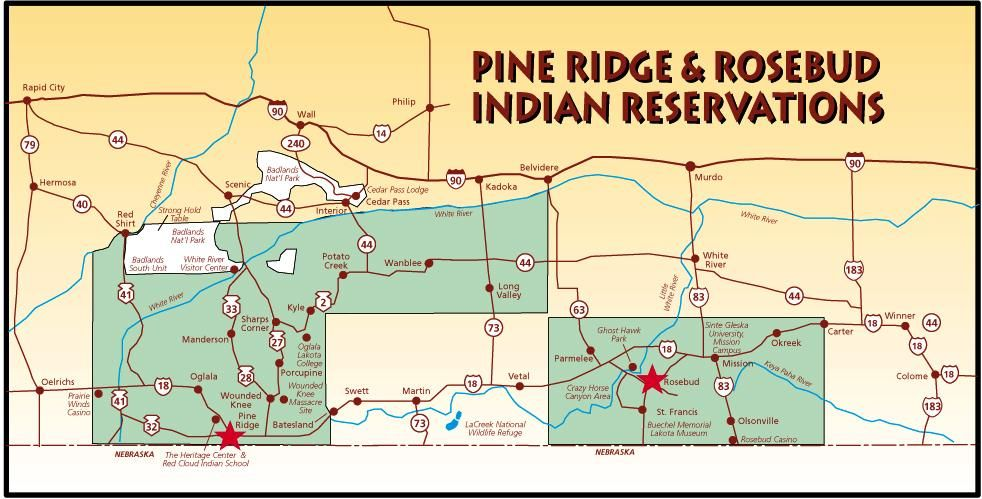 Pine Ridge Reservation Map Pine Ridge Indian Reservation | Pine Ridge and Rosebud  Pine Ridge Reservation Map