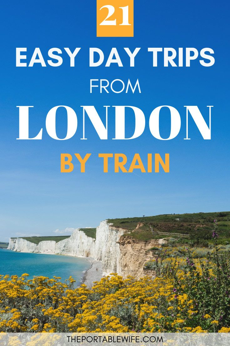 The Best Easy Day Trips From London by Train #travelengland