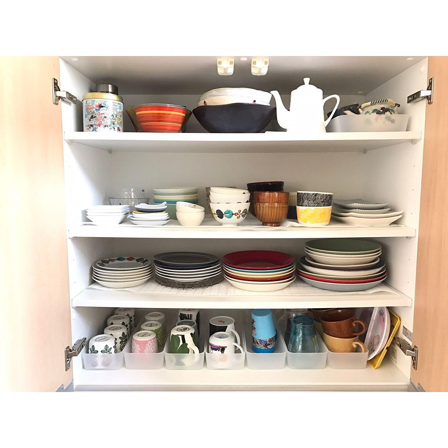 キッチン 食器 整理収納 整理整頓 食器棚収納 などのインテリア実例
