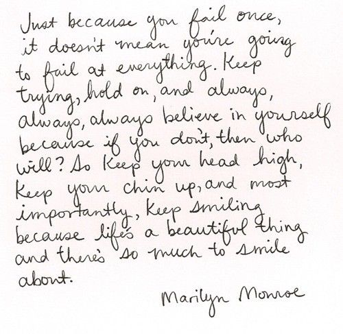Marilyn Monroe was one wise woman.
