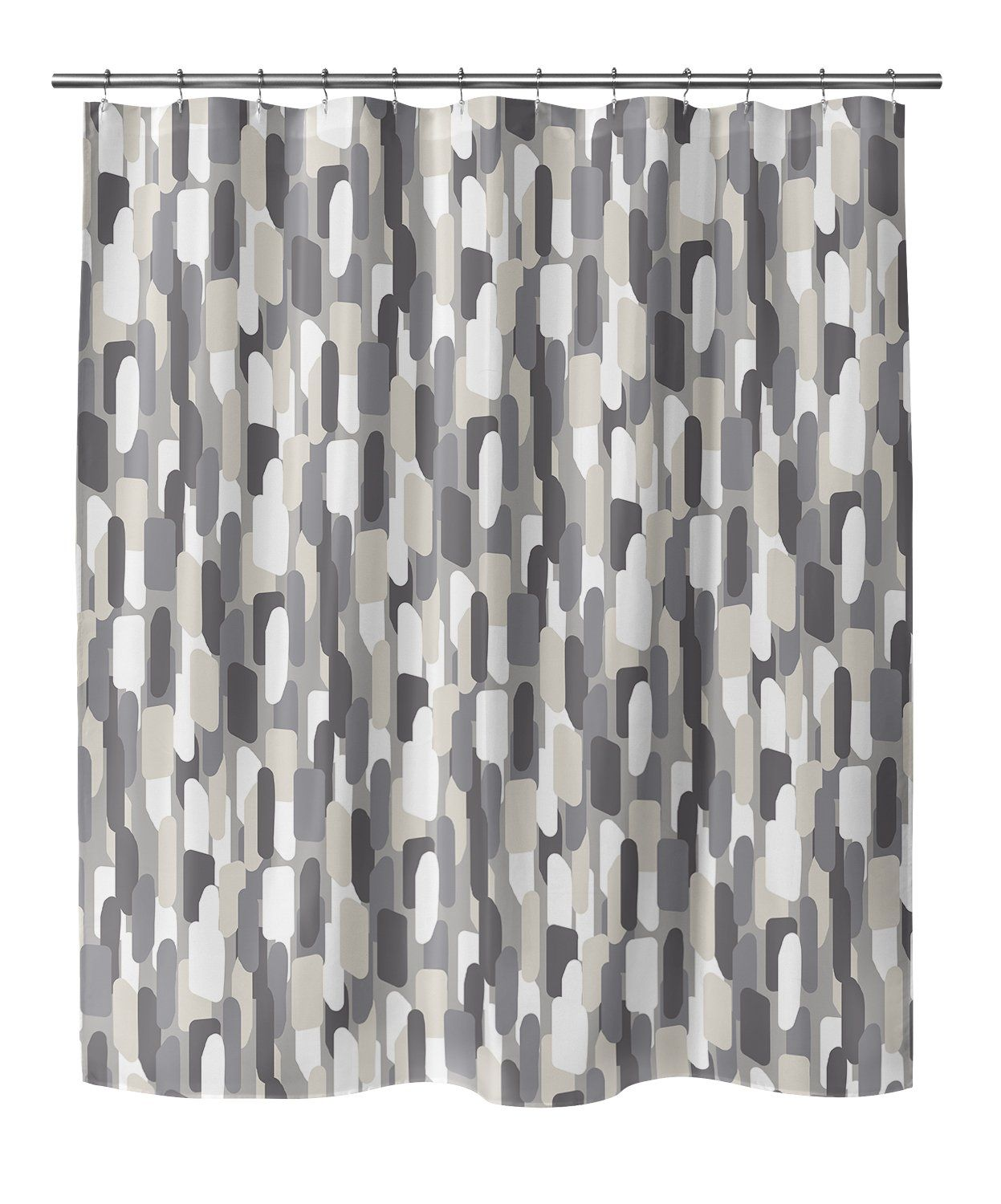 Photo of NEVALI V LIGHT GRAY Shower Curtain By Marina Gutierrez – 70in x 72in