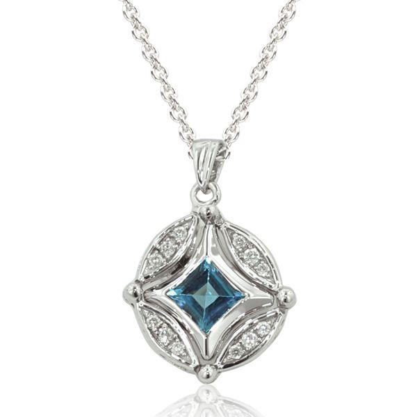Effy Diversa 174 Sterling Silver Diamond Amp Blue Topaz