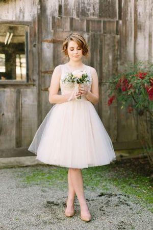 tutu tulle bridesmaid dress brides of