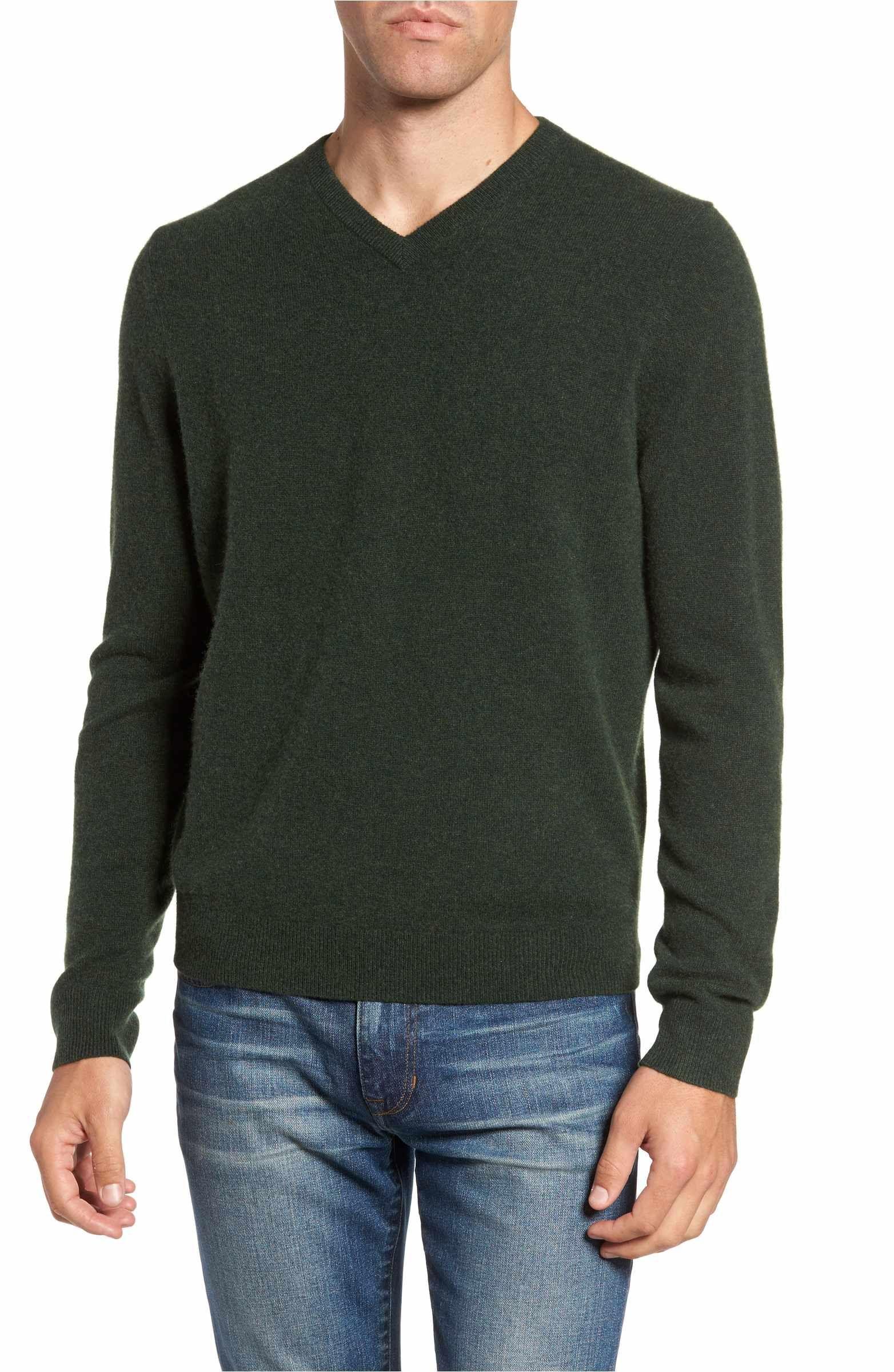 7ef2aa1ddb03 Main Image - Nordstrom Men s Shop Cashmere V-Neck Sweater