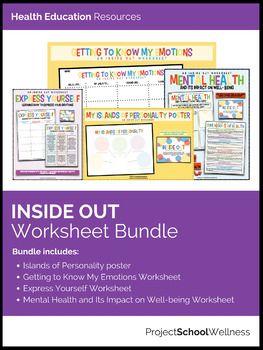 Emotional & Mental Health Worksheet Bundle - Inside & Out ...