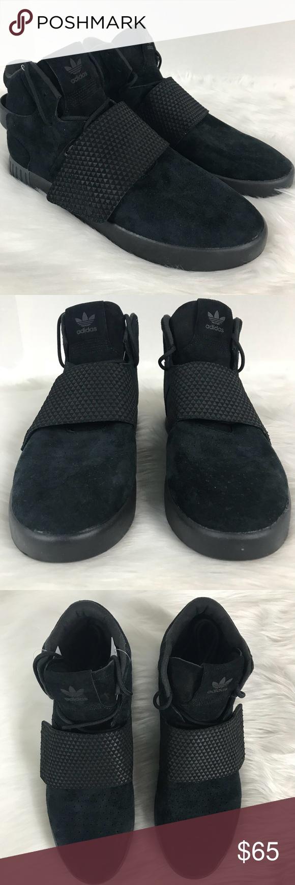 Adidas tubulare cinghia triplo velluto nero taglia 10 adidas originali