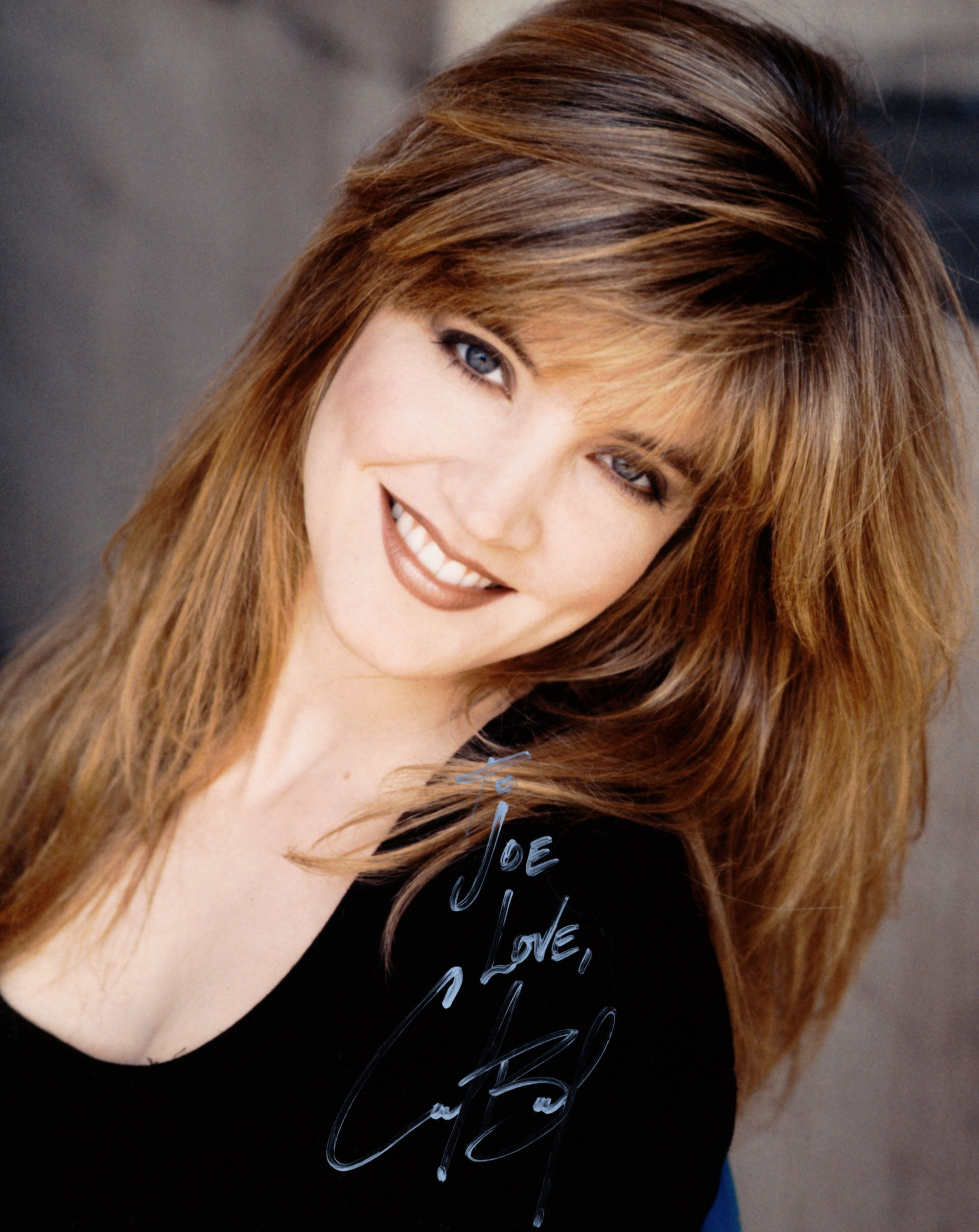 Blond beauty actress and singer Crystal Bernard