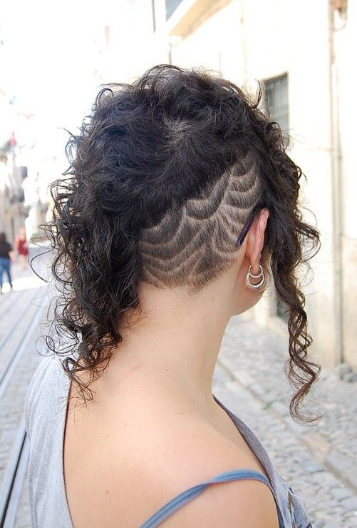 Pleasing Futuristic Pretty And Edgy Black Curly Hairstyle Asymmetric Hairstyles For Women Draintrainus