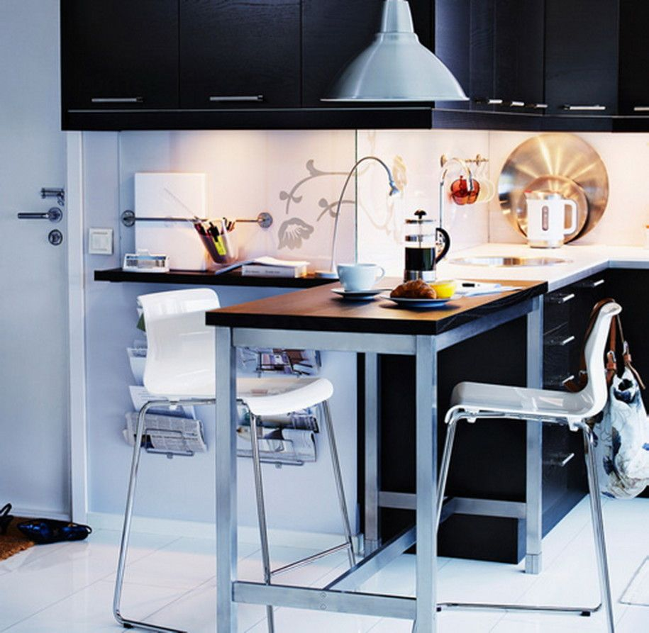 Classy small dining tables and chairs with mixed materials small
