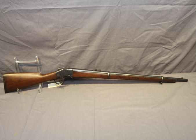 Sharps lever action rifle with falling block marked