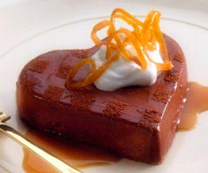 Chocolate Hearts with Honey-Caramel Sauce