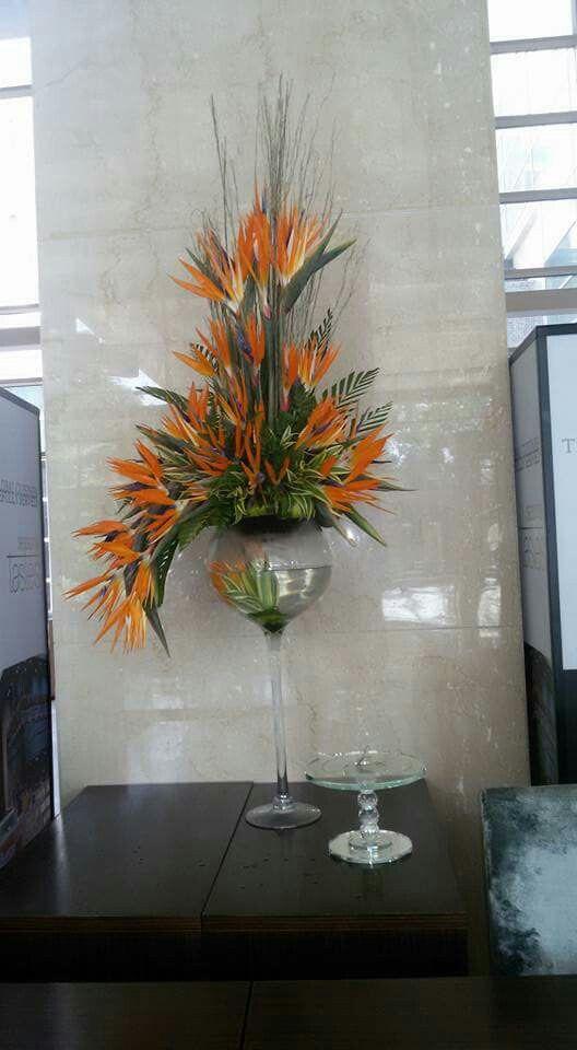 Aves Del Paraíso Decoración Dé Salón Arreglos Florales