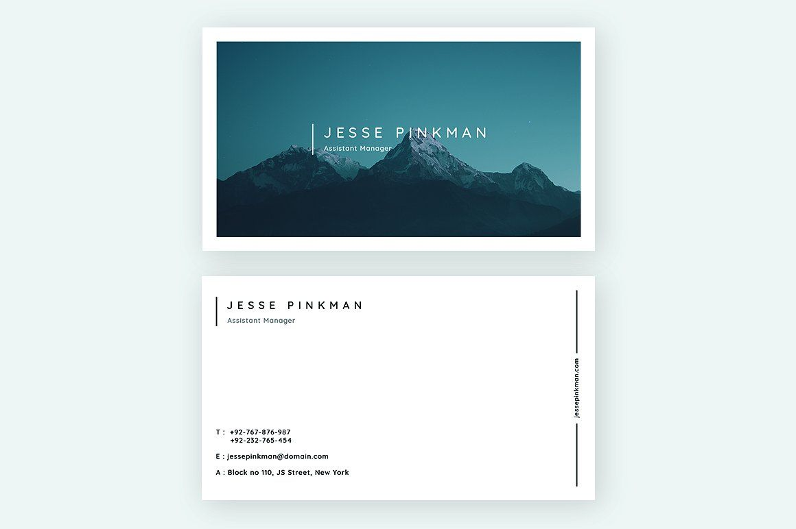 Minimal Business Card Templates | Minimal business card, Business ...