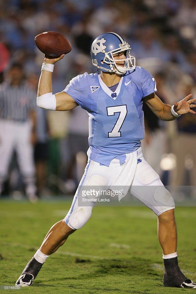 Quarterback Matt Baker Of The North Carolina Tar Heels Throws A
