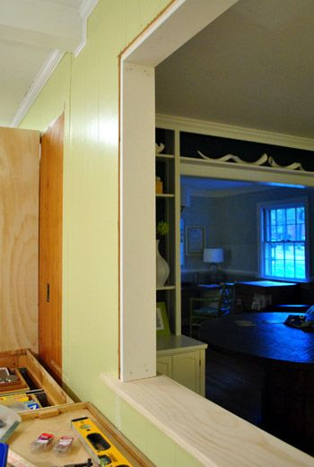 How To Trim Out A Cased Opening And A Half Wall   Half walls, Walls ...