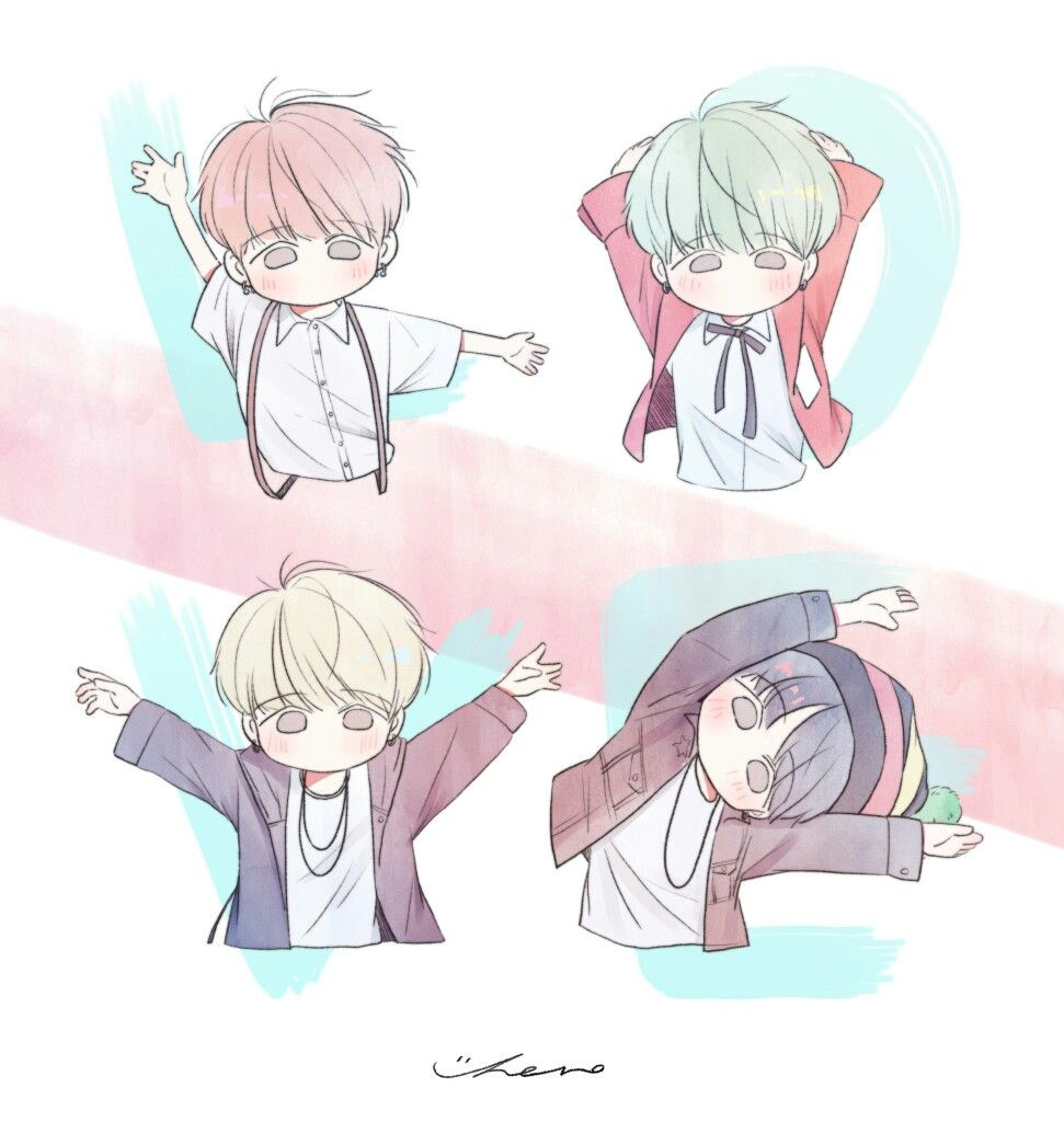 Yoongi Fanart Animasi Gambar Anime Gambar
