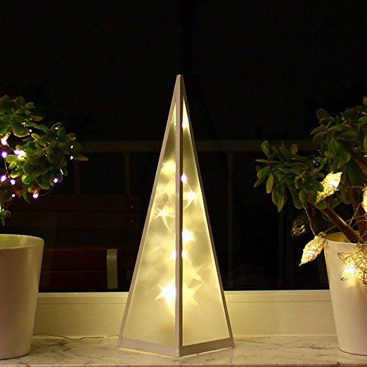 Weihnachtsdeko Led Fenster.3d Weihnachtsbeleuchtung 45cm Hologramm Pyramide Weihnachten