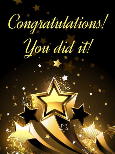 Be the first to wish a big congratulation with this bold card! Hot