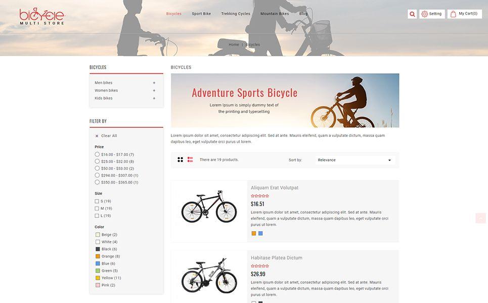 Bicycle Multistore Prestashop Theme 71191 Ecommerce Template