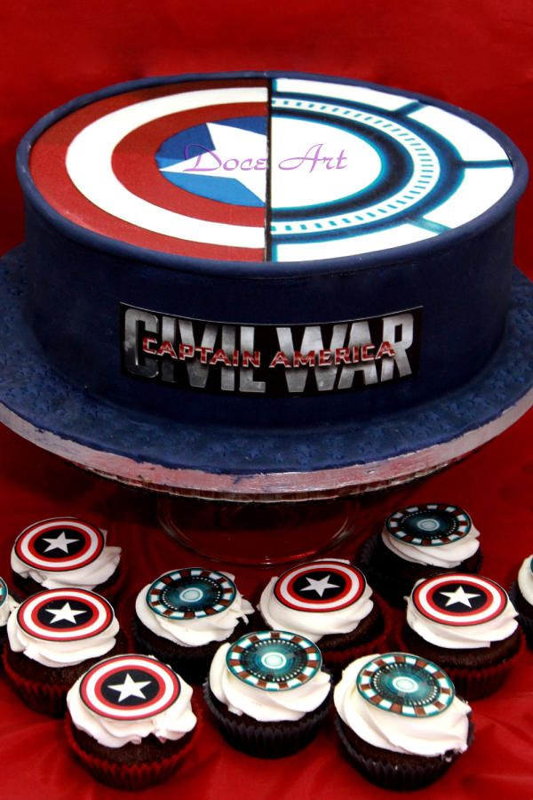 Civil War Cake Cupcakes By Magda Martins Doce Art Fiesta