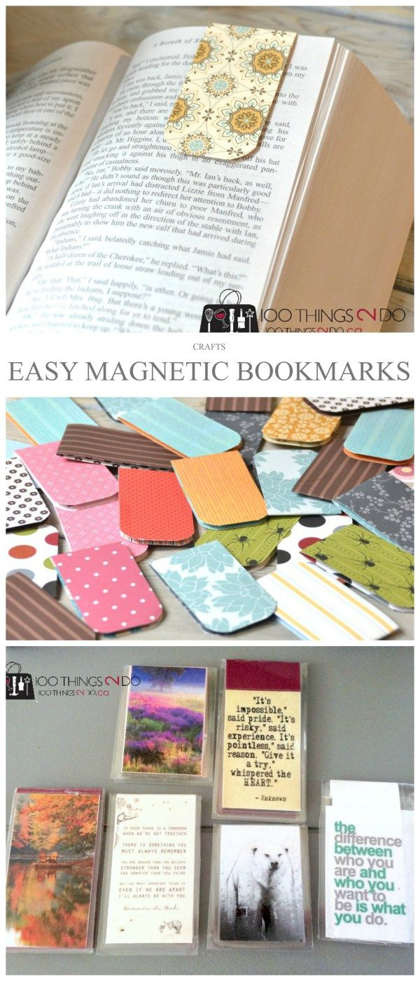 Easy Magnetic Bookmarks #paperprojects