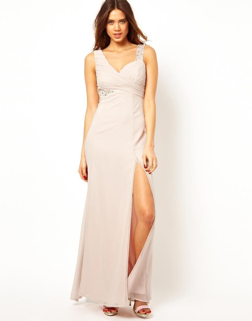 blush bridesmaid dresses under lipsy
