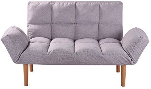 Amazon.com: QVB Convertible Loveseat Folding Couch Modern ...