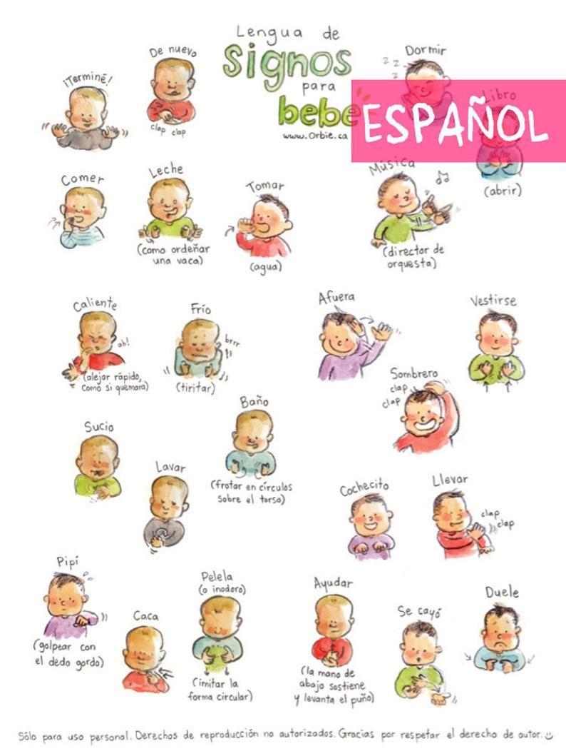 ES Baby sign language poster (SPANISH PRINTABLE) Sign