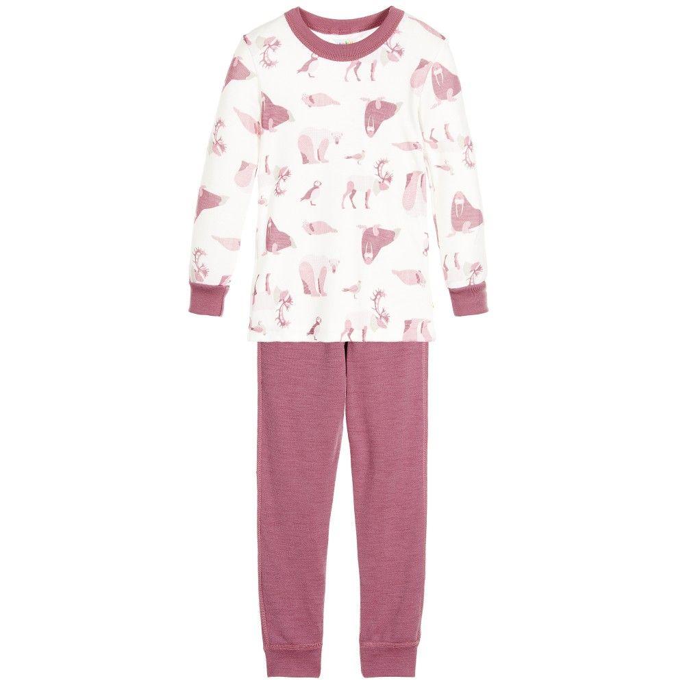 6f4a0c303c Girls ivory and dusky pink pyjamas by Joha