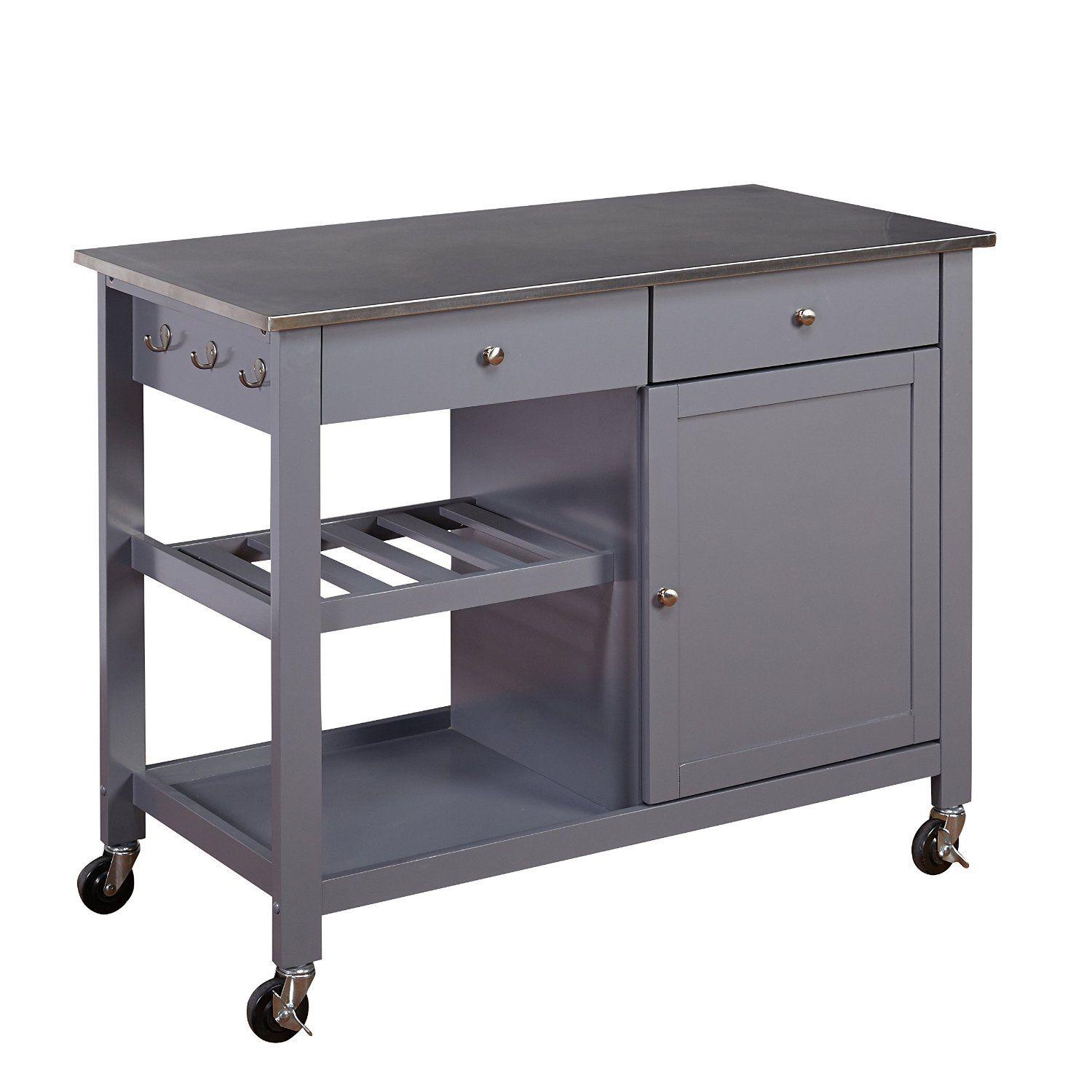 Amazon.com - Target Marketing Systems Columbus Kitchen Cart ...