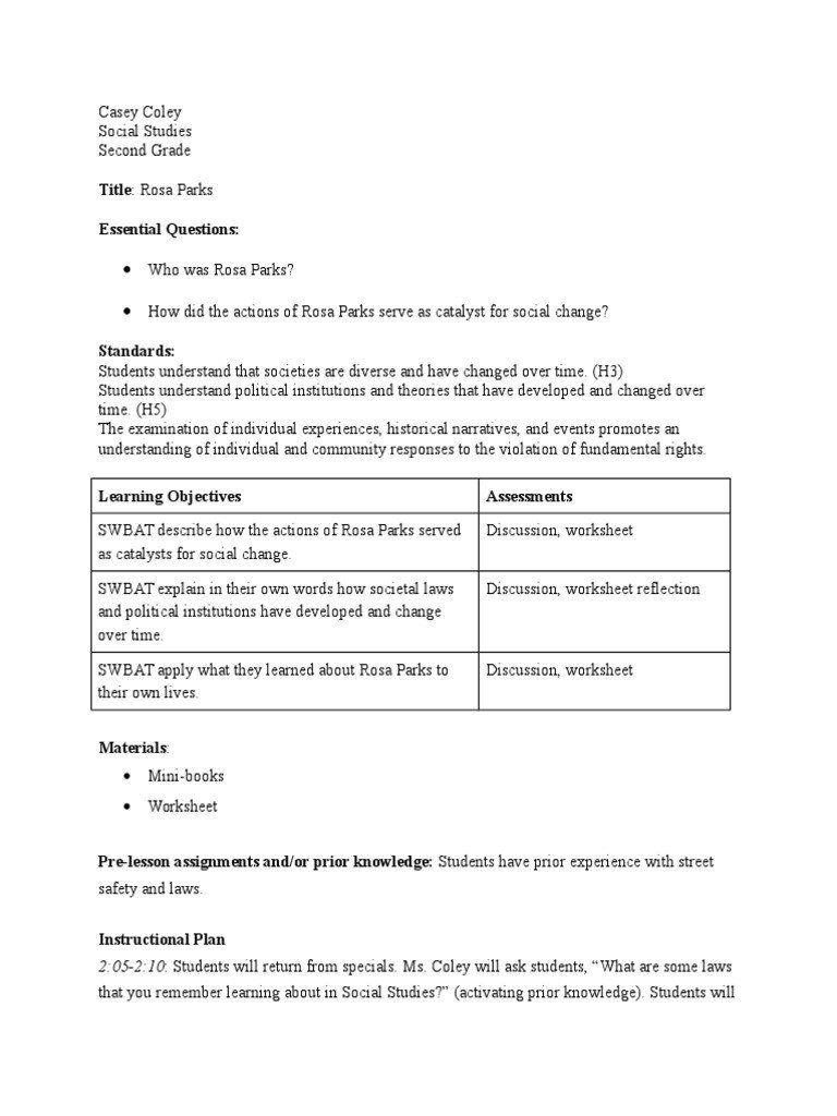 2nd Grade Social Studies Worksheet Social Stu S Ip Rosa Parks In 2020 Social Studies Worksheets Social Studies Who Was Rosa Parks