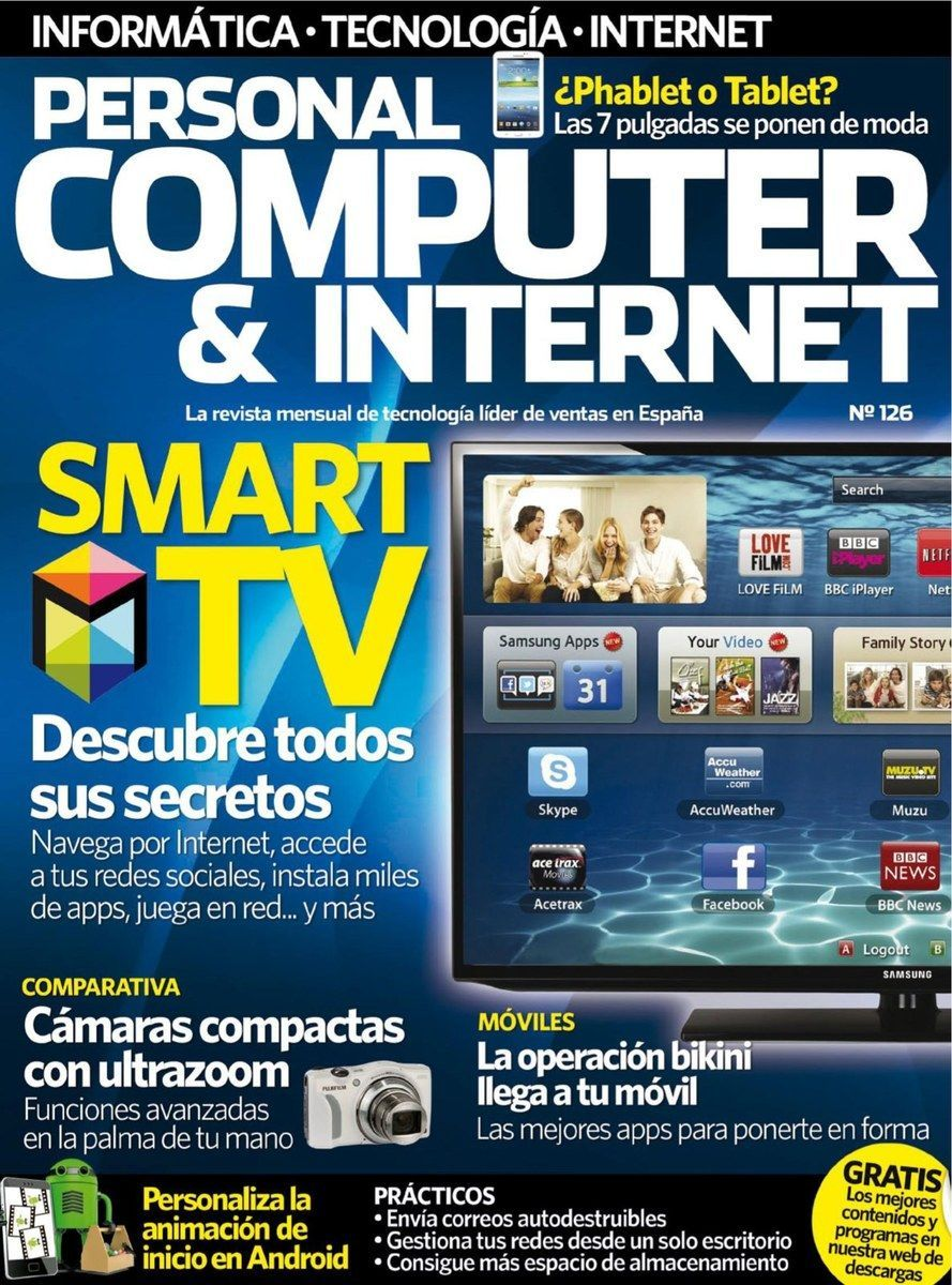 Revista Personal Computer & Internet 126. Smart TV: Descubre todos sus secretos.