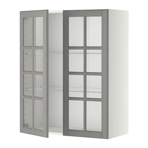 Two Tone Kitchen Cabinets Ikea: METOD Väggskåp M Hyllplan/2 Vitrindörrar IKEA Du Kan
