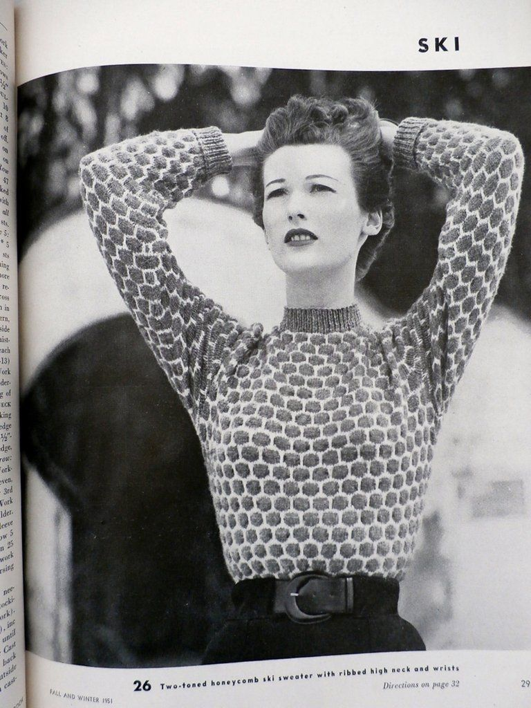 1951 VOGUE Knitting Crochet Patterns Dresses Blouses Bathing Suit ...