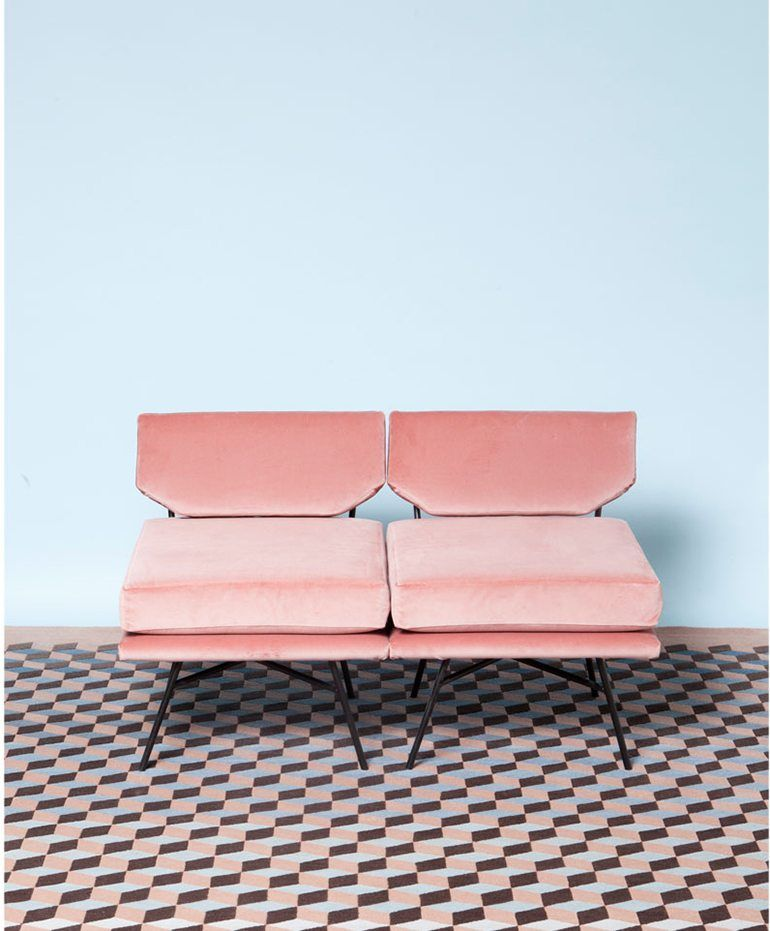 House · Pastel Millenial Pink Sofa Chair