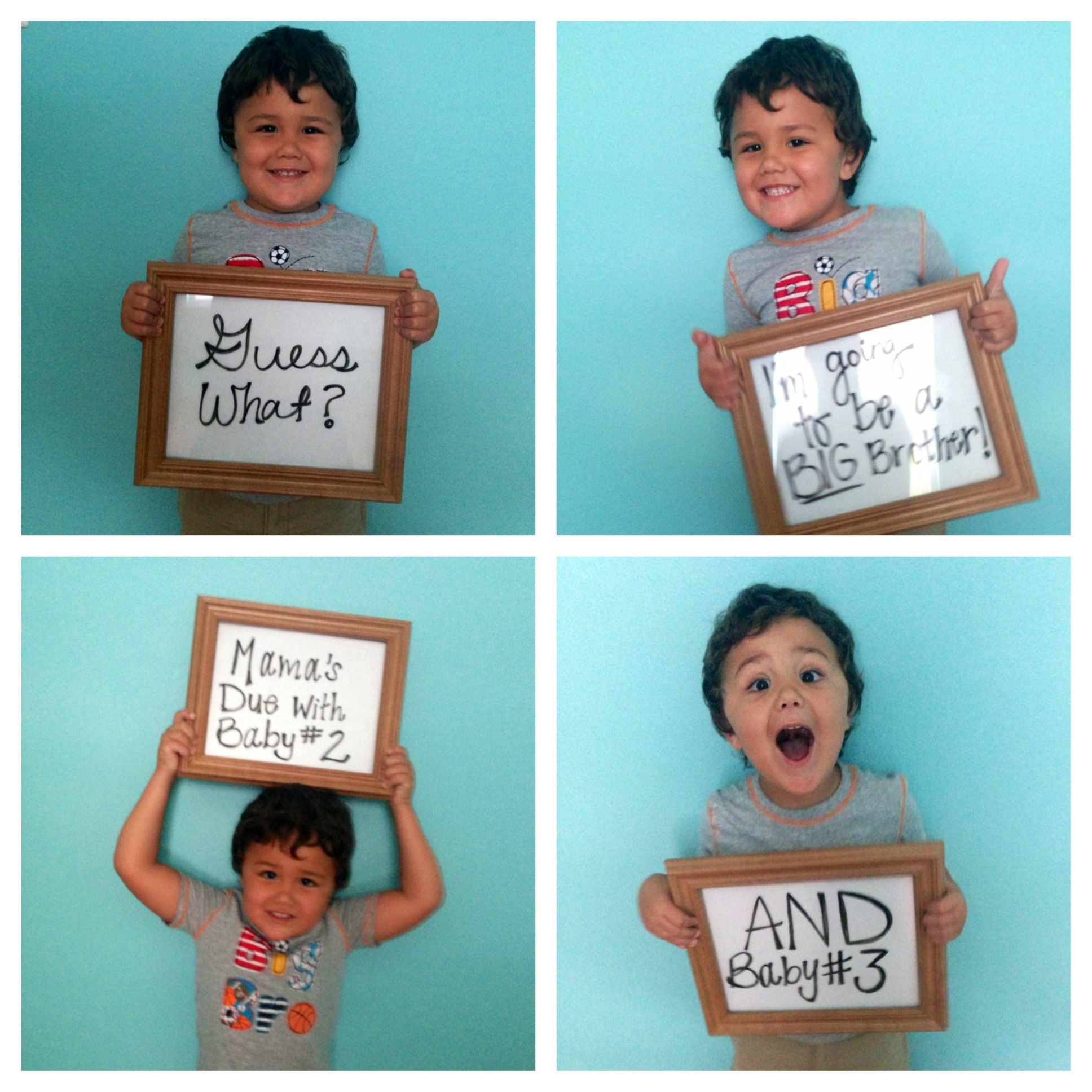 My twin pregnancy announcement Twin Reveals – Baby Announcements Pinterest