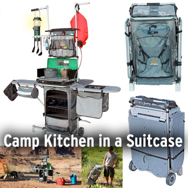Awesome Grub Hub Camp Kitchen (grubhubusa.com, $400)Organize All Your Camp Cooking