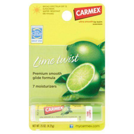Carmex Lip Balm LIme Twist - 12 PK, 12.0 PACK Hyaluronic Acid Moisturizing Cream - 4 oz. by Home Health (pack of 4)