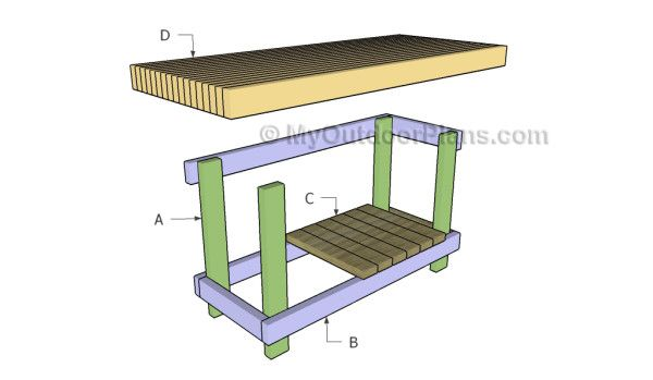 2x4 Workbench Plans Free Outdoor Plans Diy Shed